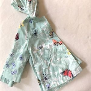 GAP Jackets & Coats - Baby gap girls butterfly raincoat size 2t